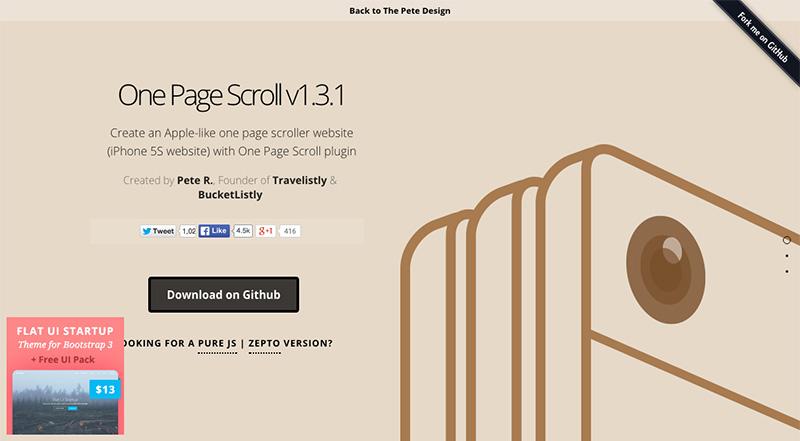1ページ単位の画面スクロールを実現する「One Page Scroll」