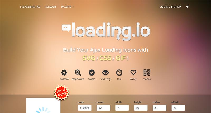 SVGの美しいローディング・アニメーションを作成できる「loading.io」