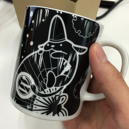 メンターのご褒美としていただいたWordCamp Tokyo2016特製「わぷー・マグカップ」。これは家宝になりそう♪